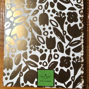 Kate Spade Golden Floral Large Notebook